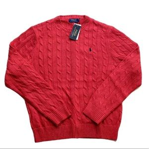 Polo Ralph Lauren Cable Knit Crewneck Sweater